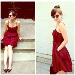 J. Crew • striped derby dress